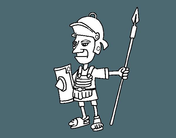 Dibujo De Soldado Serio Para Colorear