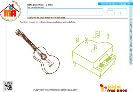 Sonidos De Instrumentos Musicales  Comunicación Integral 3 Años