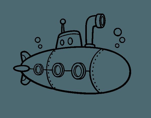 Dibujo De Submarino Espía Para Colorear