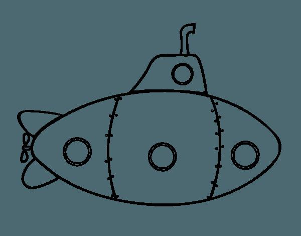 Dibujo De Submarino Militar Para Colorear