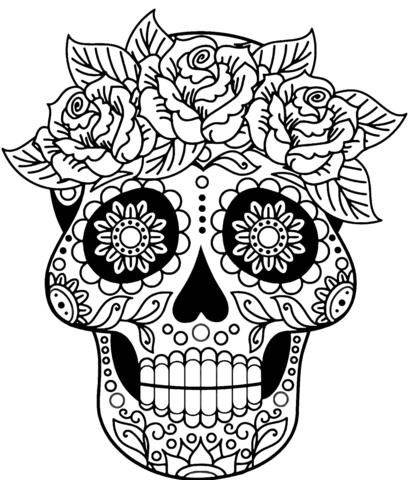 Dibujo De Calavera Para Colorear