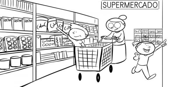Dibujos De Supermercados Para Imprimir Y Pintar