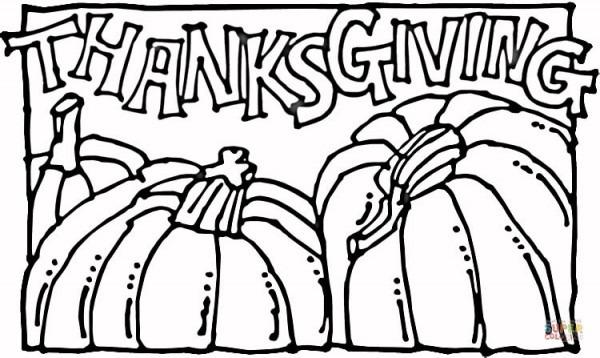 Dibujo De Calabazas De Acción De Gracias Para Colorear