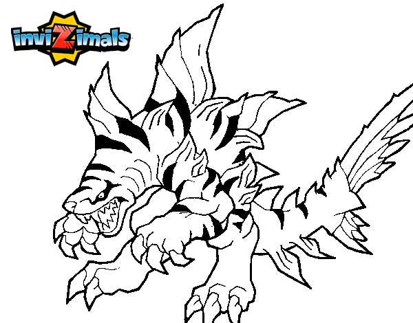 Tigershark Invizimals Dibujos Colorear