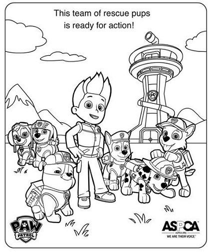 Dibujos De Paw Patrol Para Colorear