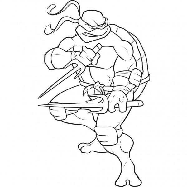 Dibujos Divertidos De Las Tortugas Ninjas Para Colorear  Descargá