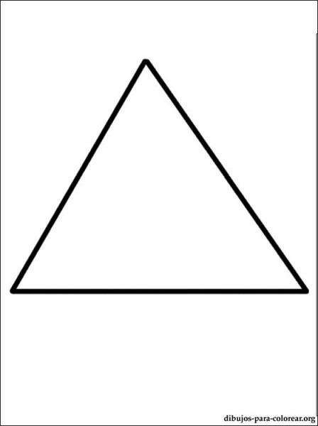 Dibujo De Triángulo Para Pintar
