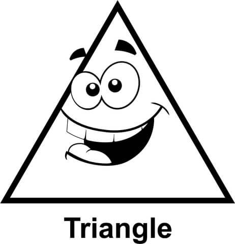 Dibujo De Triángulo Con Cara Para Colorear