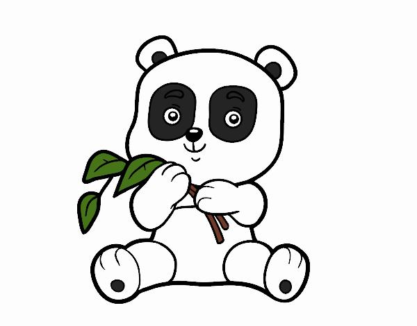 Dibujo De Un Oso Panda Pintado Por En Dibujos Net El Día 28