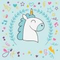 Emoji De Unicornio Para Colorear