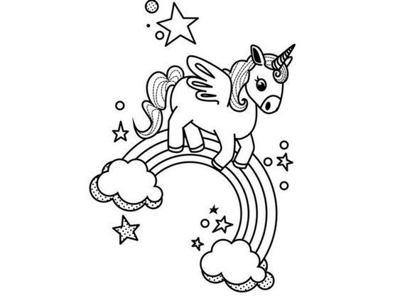 Unicornios Para Colorear 🦄  Imágenes Para Imprimir Y Pintar