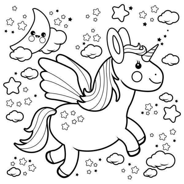 Dibujos De Unicornios Para Colorear