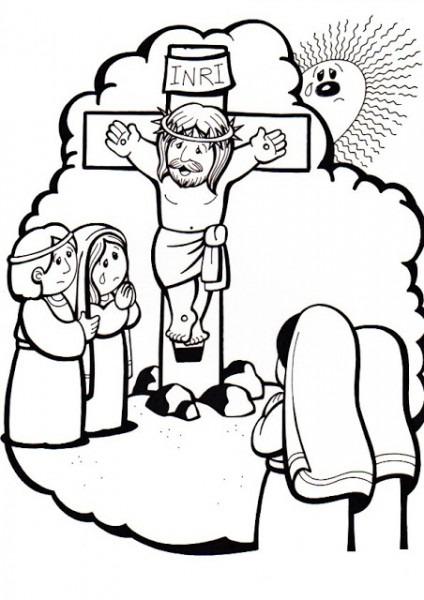 La Catequesis (el Blog De Sandra)  Vía Crucis Para Colorear Los