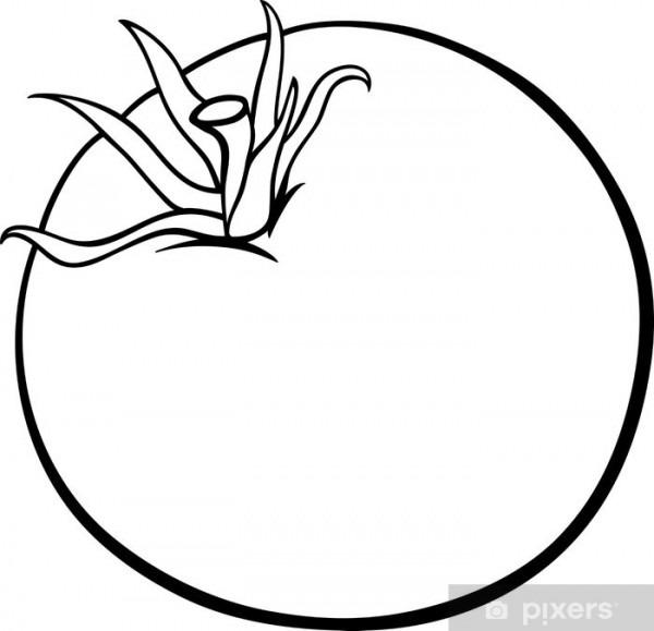 Vinilo Pixerstick De Dibujos Animados De Vegetales De Tomate Para