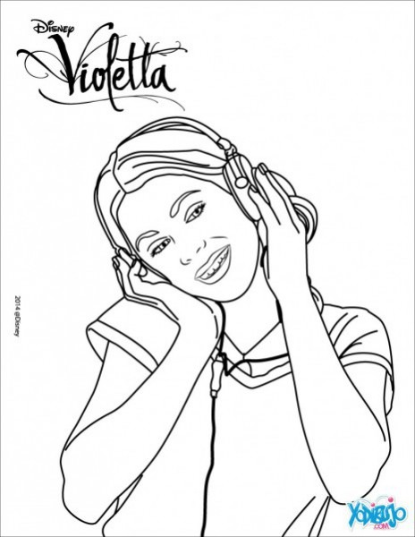 Dibujos De Violetta Para Pintar