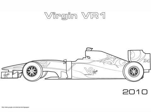 Dibujos De Fórmula 1 Para Colorear