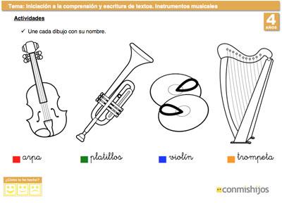 Instrumentos Musicales  Ficha Para Ampliar Vocabulario
