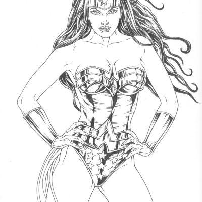 Dibujos De Superheroínas De Marvel Y Dc Comics Para Colorear