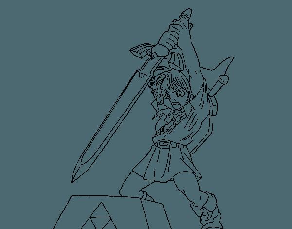 Dibujo De Zelda Para Colorear