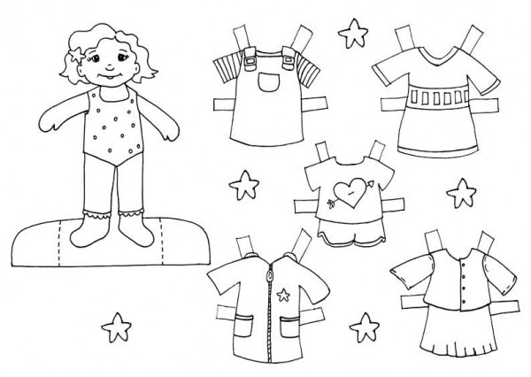 Black White Paper Dolls