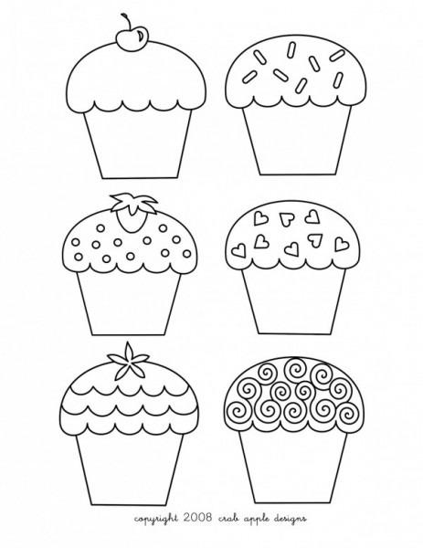 Imágenes Para Colorear De Cupcakes