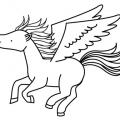 Unicornio Con Alas Para Colorear