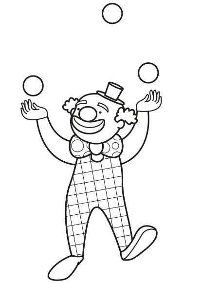 Los Payasos Del Circo  Dibujo Para Colorear E Imprimir