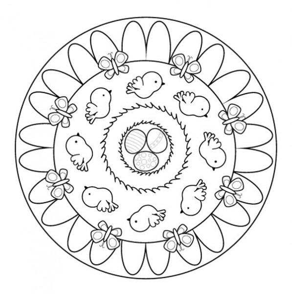 Mandala De Primavera  Dibujo Para Colorear E Imprimir