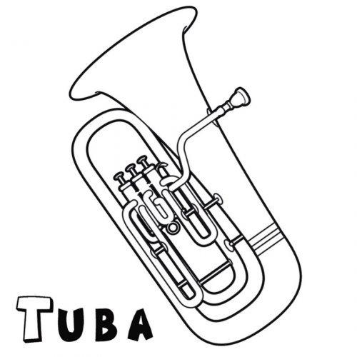 Dibujo Para Imprimir Y Colorear De Una Tuba