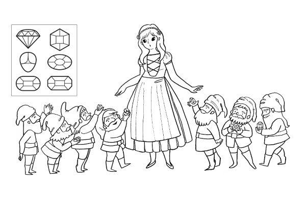 Blancanieves  Dibujo Para Colorear E Imprimir