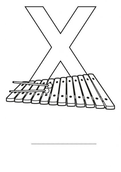 Letra X  Dibujo Para Colorear E Imprimir
