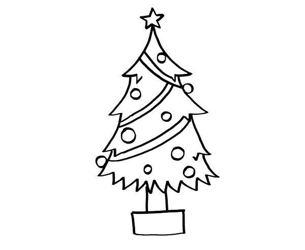 Árbol De Navidad  Dibujo Para Colorear E Imprimir
