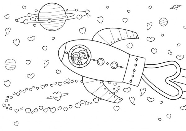 Universo Para Mamá  Dibujo Para Colorear E Imprimir