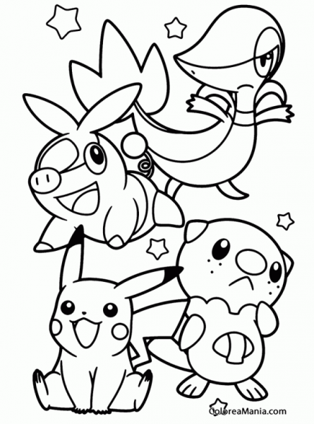 Colorear Begining Pokemon Black And White (pokemon), Dibujo Para