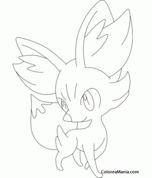 Colorear Fennekin (pokemon), Dibujo Para Colorear Gratis