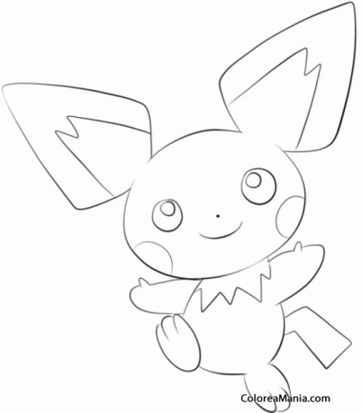 Colorear Pichu  Generation Ii Pokemon (pokemon), Dibujo Para
