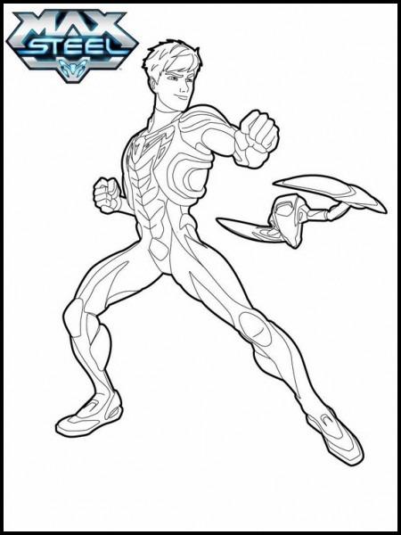 Dibujos Para Colorear Para Niños Max Steel 11