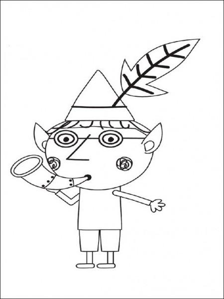 Dibujos Para Colorear Para Niños El Pequeño Reino De Ben Y Holly 11