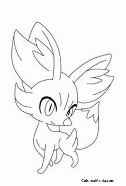 Colorear Fennekin 2 (pokemon), Dibujo Para Colorear Gratis