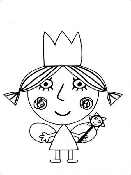 Dibujos Para Pintar Para Niños El Pequeño Reino De Ben Y Holly 12