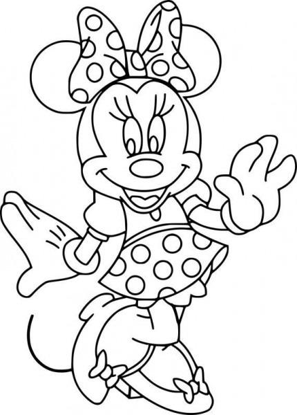 Molde Minnie Mouse De 75 Centimetros De Alto En Pdf Para Imprimir