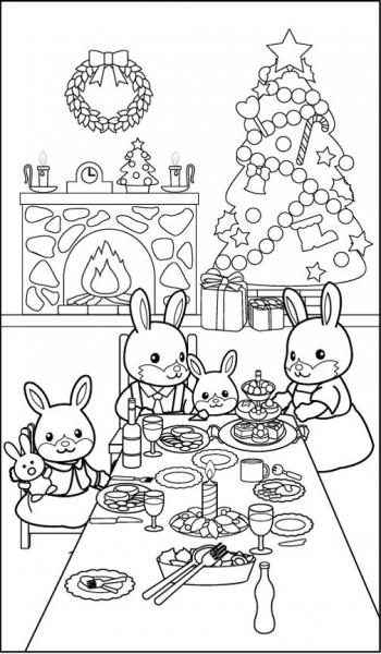 Conejitos Cena Navidad