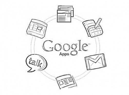 Dibujo De Google Apps Para Pintar Y Colorear Logo De Googleapps