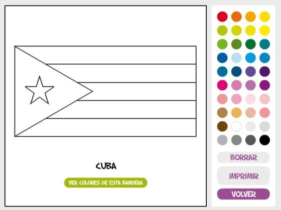 Pinta Y Colorea  Â¿conoces Bien Las Banderas De Ee Uu Y Cuba