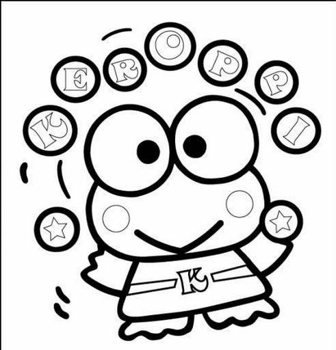 Fun Coloring Pages  Keroppi Free Coloring Pages