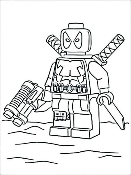 Dibujos De Lego Deadpool Para Colorear, Pintar E Imprimir