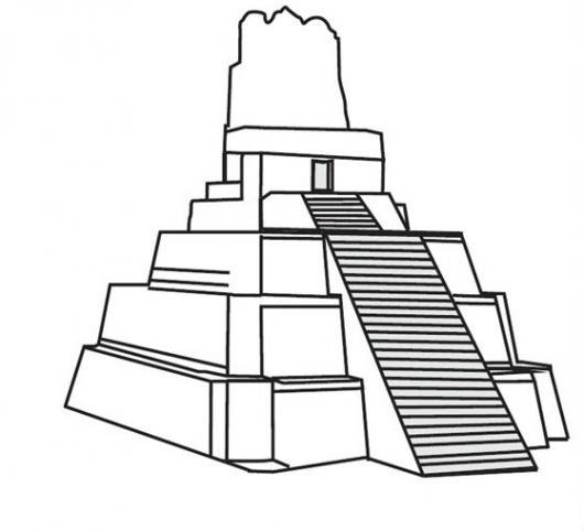 Tikal Para Colorear