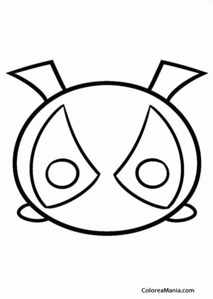 Colorear Deadpool (tsum, Tsum), Dibujo Para Colorear Gratis