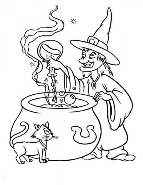 18 Dibujos De Halloween Para Colorear E Imprimir Gratis07