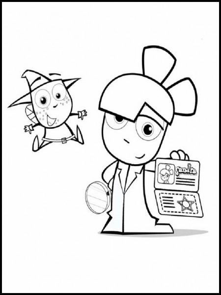 Dibujos Para Colorear Para Niños Sandra Detective De Cuentos 1